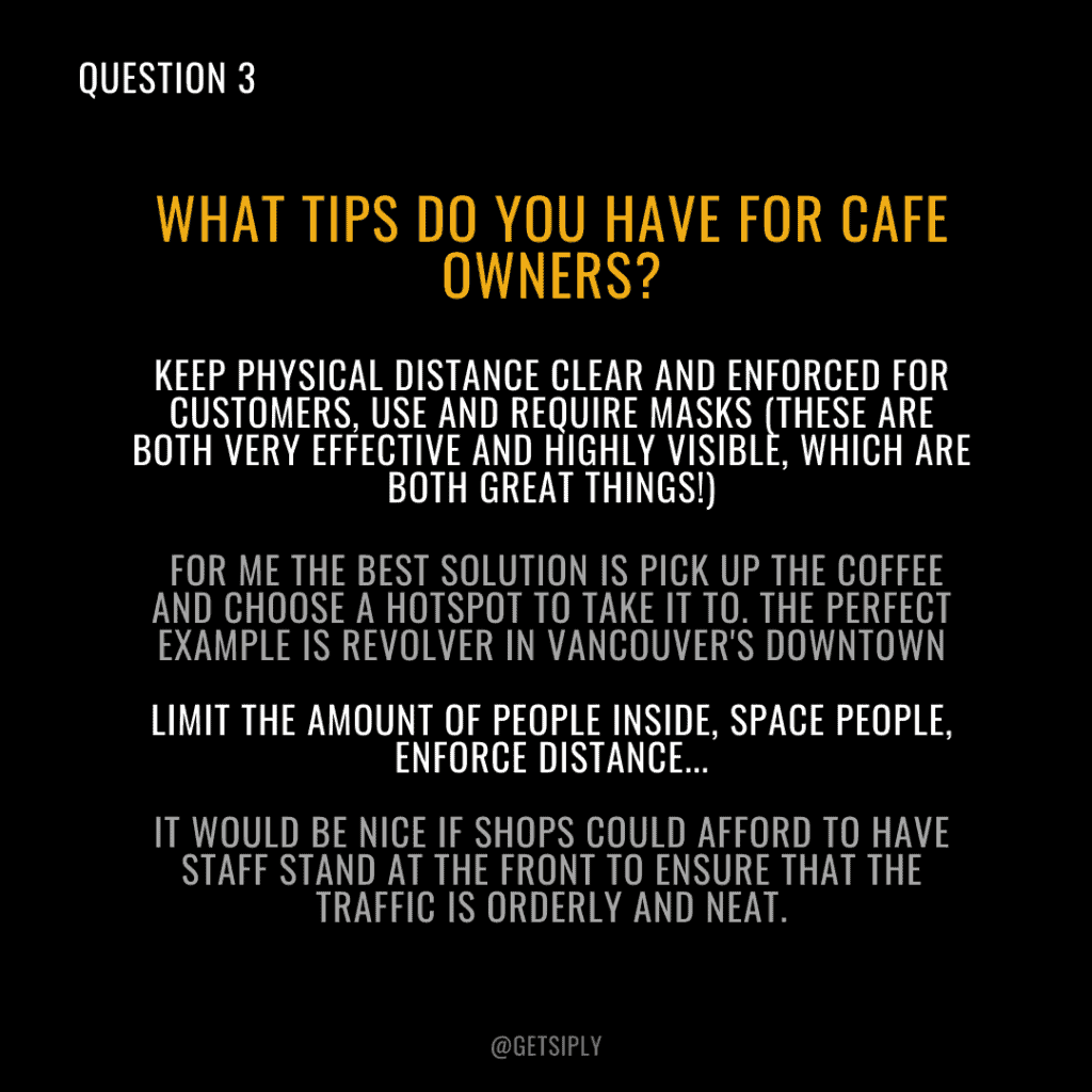 So, how can I make people more comfortable in my coffee shop?