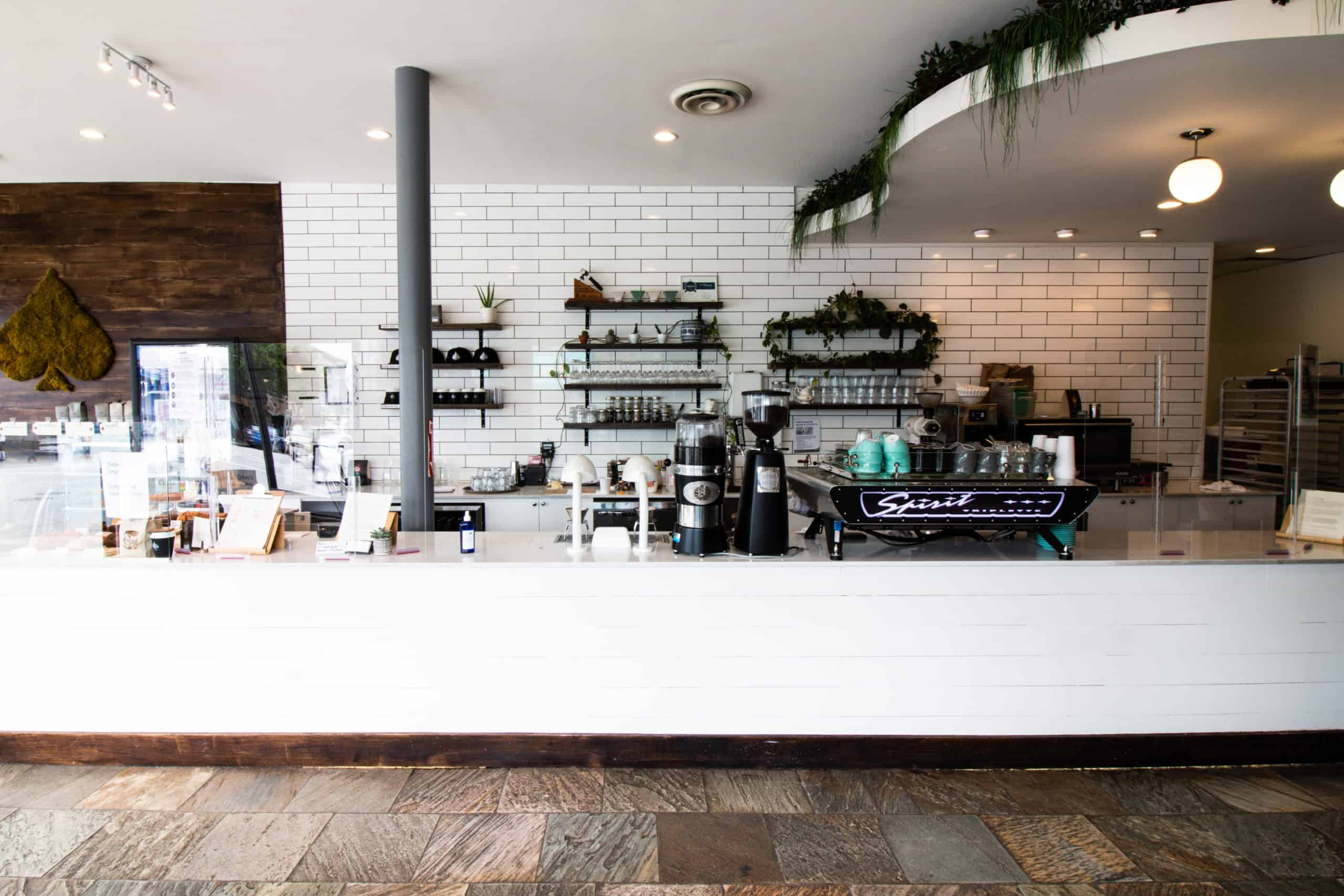 Inside of Spade Coffee, a perfect place to find Starbucks Card Alternatives