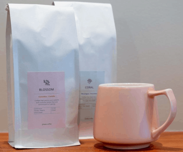 Coffee bags and cup