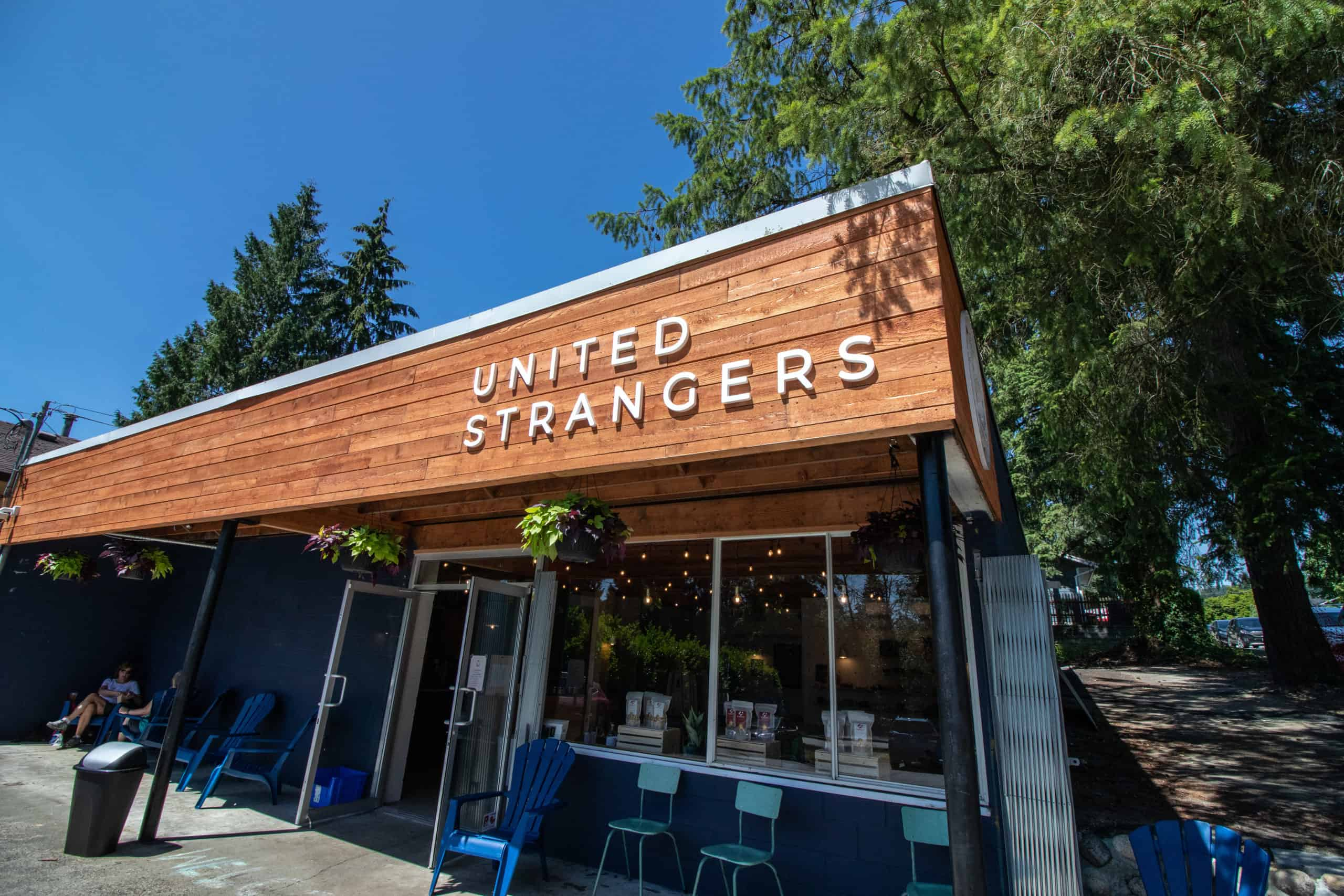 Exterior of United Strangers Cafe, which is a great shop to buy Starbucks Card Alternatives