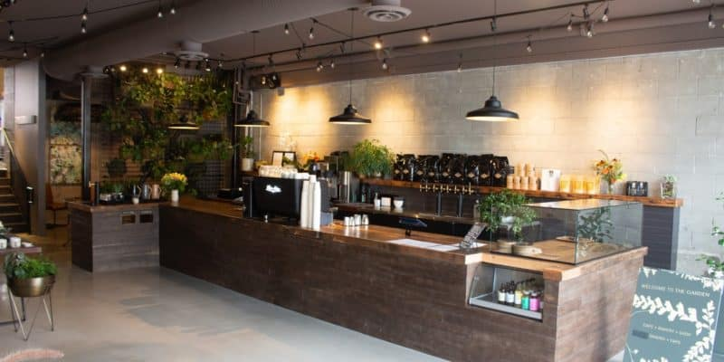 The inside of The Garden Stathcona Cafe