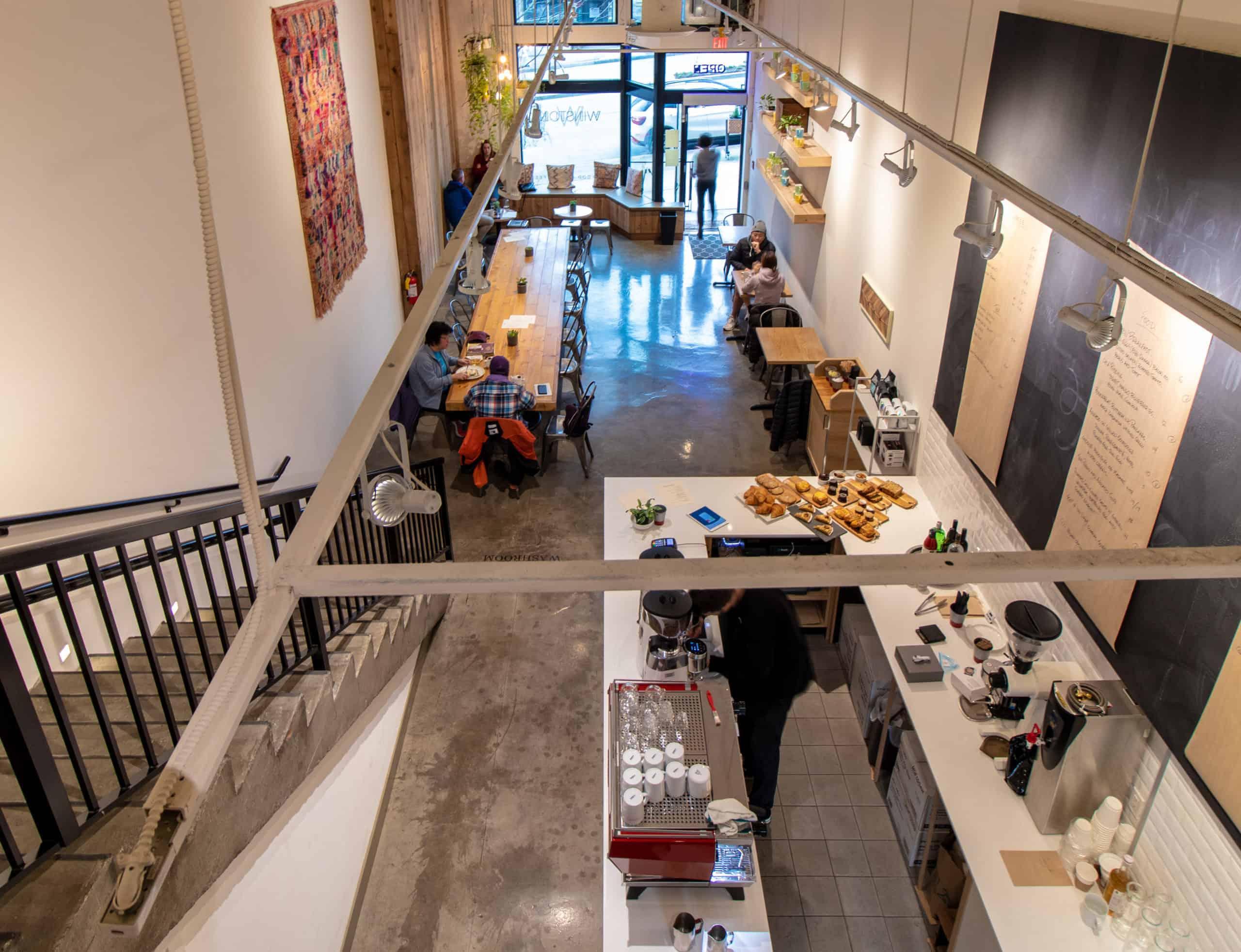 Inside of Winston Coffee Shop