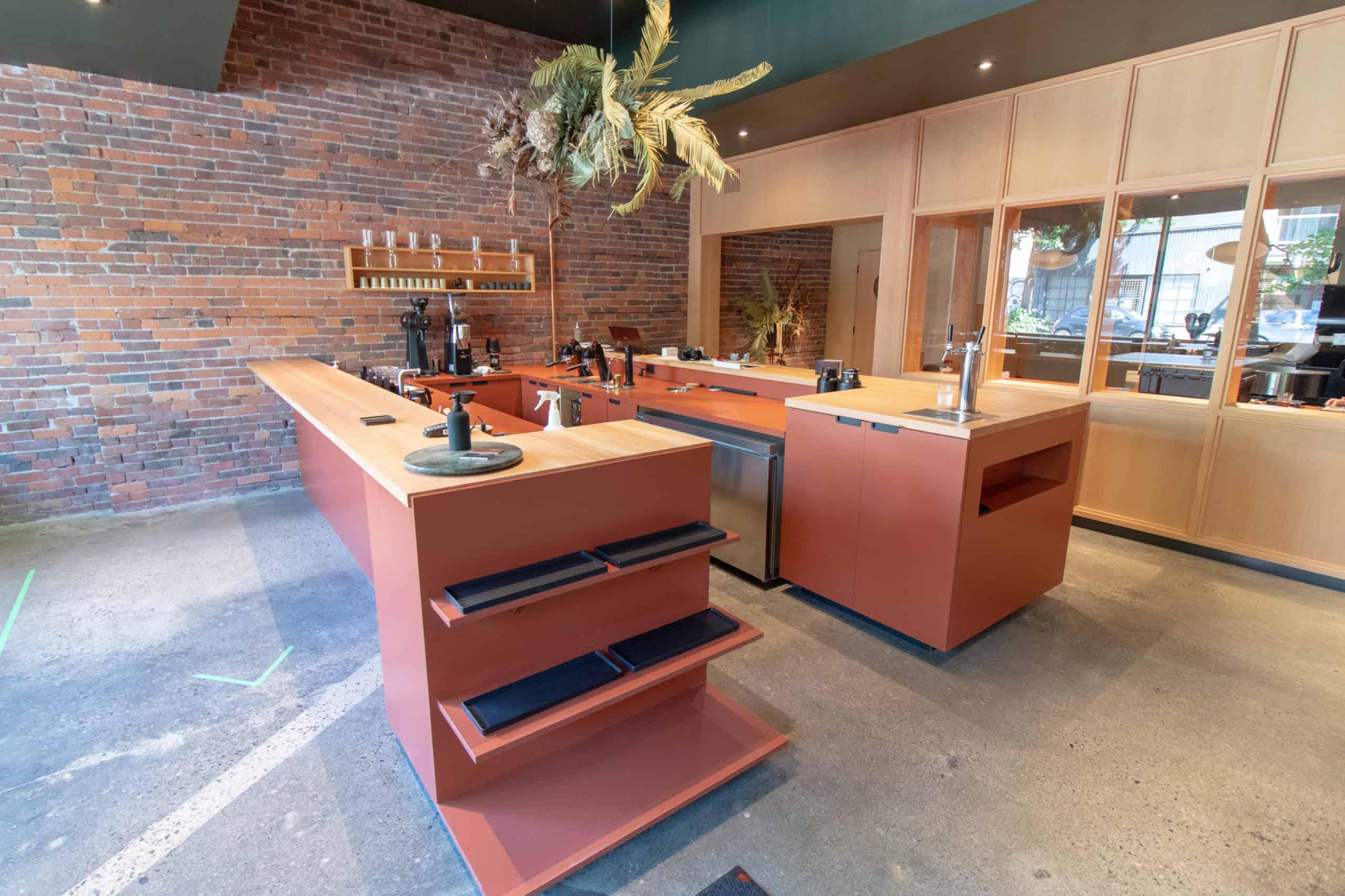 The inside of Harken Cafe