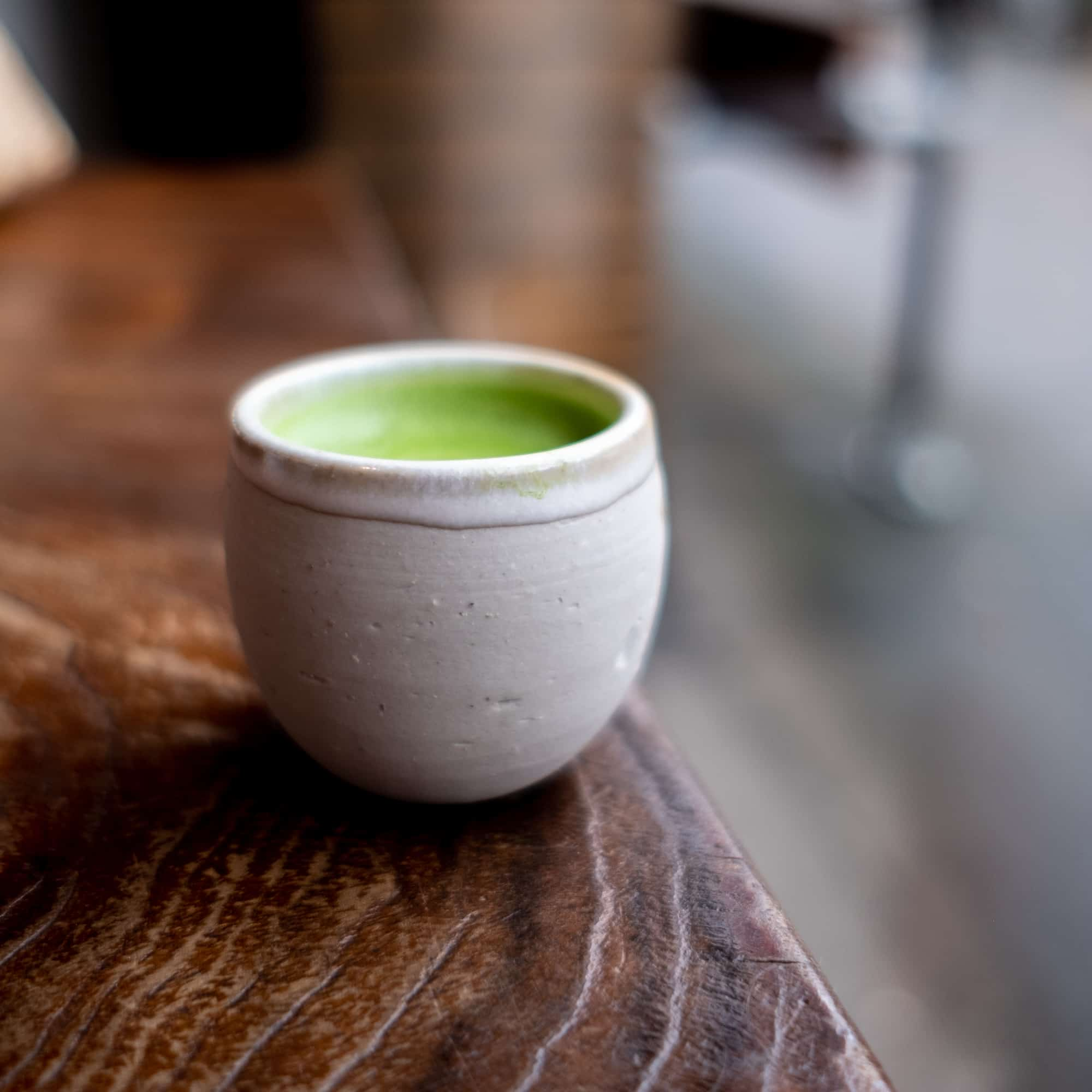Matcha on table